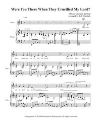 Were You There When They Crucified My Lord? (Alto or mezzo-soprano solo and piano)