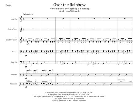 Over The Rainbow (from The Wizard Of Oz) for Steel Band