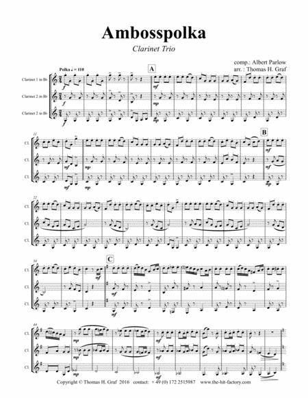 Amboss-Polka - German Polka - Oktoberfest - Clarinet Trio