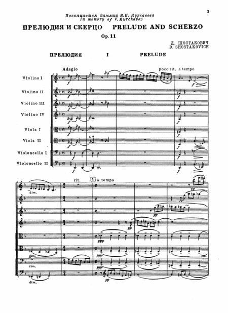 Prelude and Scherzo, Op 11