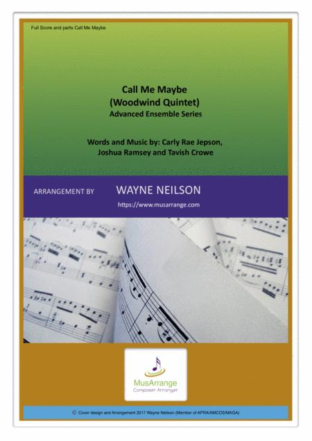 Call Me Maybe for Woodwind Quintet