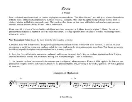 Klose B Major