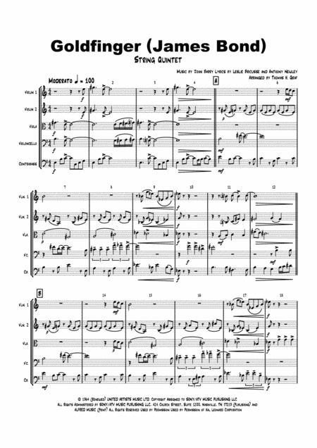Goldfinger - James Bond - String Quintet