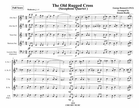 The Old Rugged Cross - Sax Quartet - Intermediate