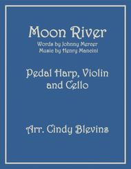 Moon River, arranged for Pedal Harp, Violin and (optional) Cello
