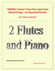 Anitra's Dance - From Peer Gynt (2 Flutes and Piano)