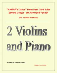 Anitra's Dance - From Peer Gynt (2 Violins and Piano)
