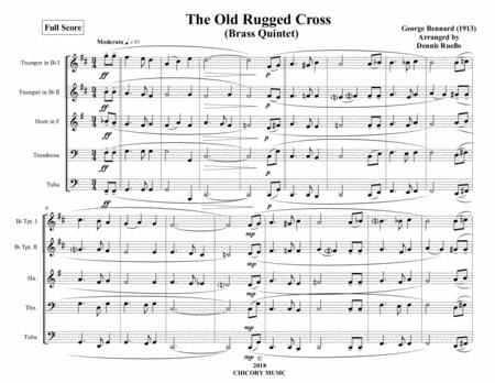 The Old Rugged Cross - Brass Quintet - Advanced Intermediate