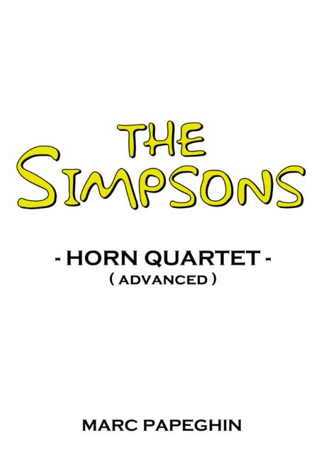 The Simpsons Theme // French Horn Quartet ( advanced level )
