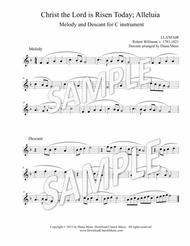 Christ the Lord is Risen Today; Alleluia - C instrument melody & descant