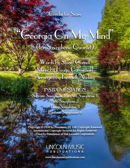 Georgia on My Mind (for Saxophone Quartet SATB or AATB)