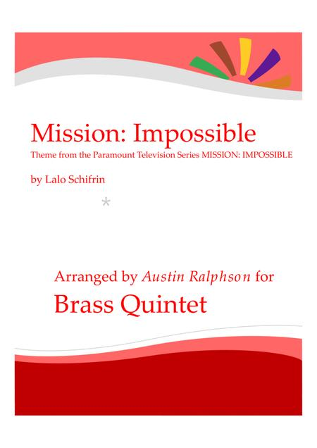 Mission: Impossible Theme from the Paramount Television Series MISSION: IMPOSSIBLE - brass quintet