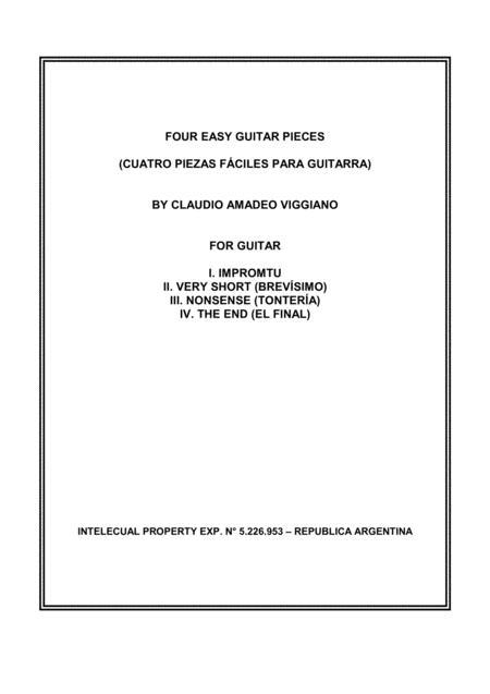 FOUR EASY GUITAR PIECES (CUATRO PIEZAS FACILES PARA GUITARRA)
