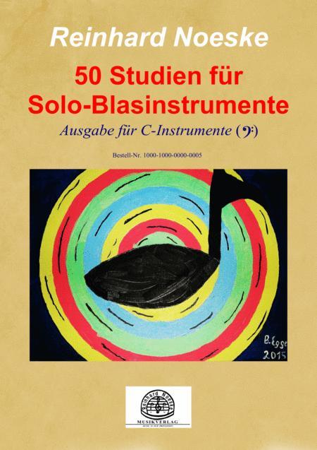 50 Studien für Solo-Blasinstrumente - Ausgabe für C-Instrumente (Bassschlüssel)