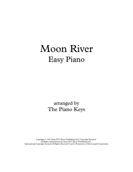 Moon River Easy Piano