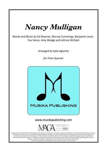 Nancy Mulligan - Ed Sheeran - for Flute Quartet