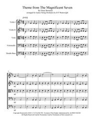 Theme from The Magnificent Seven arranged for Junior String Orchestra with mp3