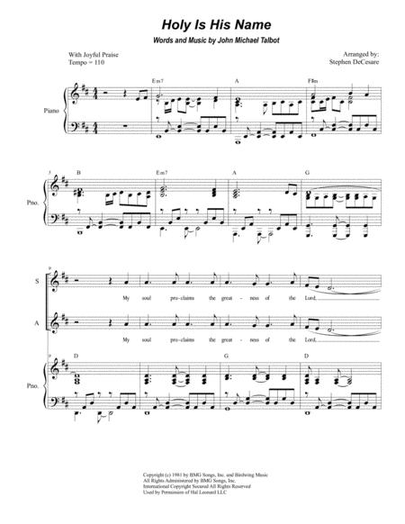 Holy Is His Name (for Vocal Quartet - SATB)