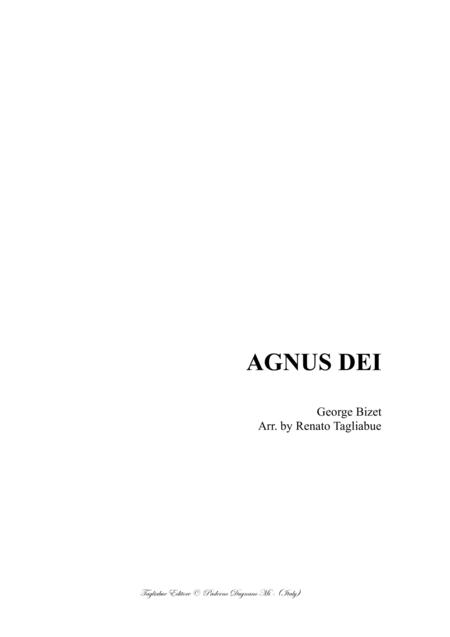 AGNUS DEI - Bizet - Arr. for SA Choir and Piano/Organ