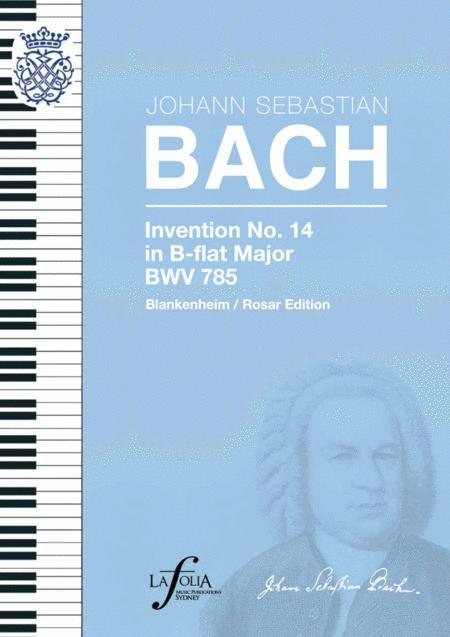Invention 14 in B-flat major BWV 785 Blankenheim / Rosar Edition