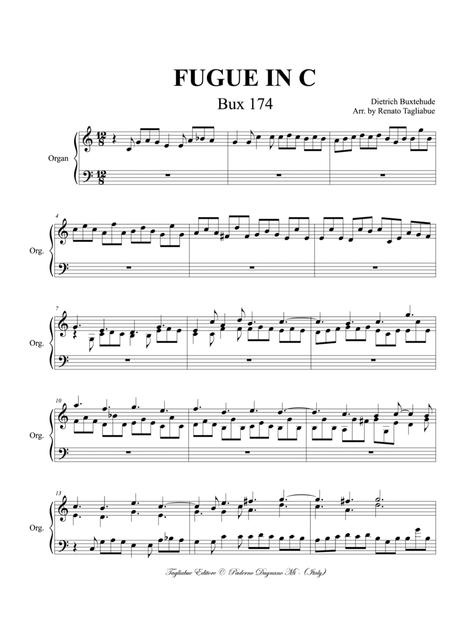 FUGUE IN C - BUXWV 174 - Buxtehude - For organ