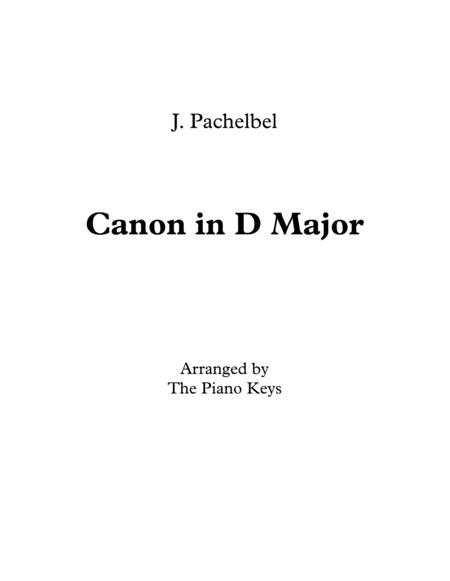 Canon in D Major Easy Piano