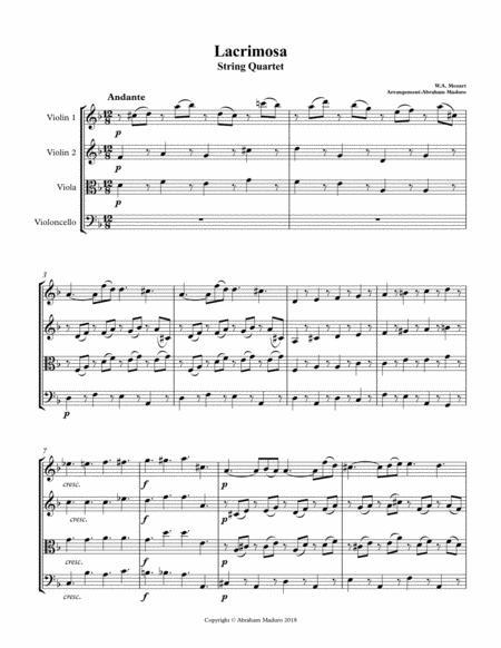 Lacrimosa from Mozart´s Requiem String Quartet