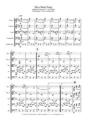 Skye Boat Song for string quartet with additional optional bass part. Score & parts with mp3