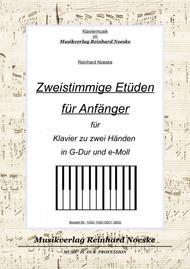 Zweistimmige Etüden für Anfänger in G-Dur und e-Moll