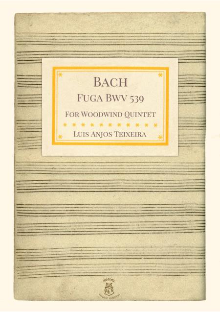 Bach Fuga BWV 539 For Woodwind Quintet