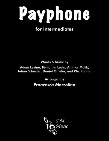 Payphone (Intermediate Piano)