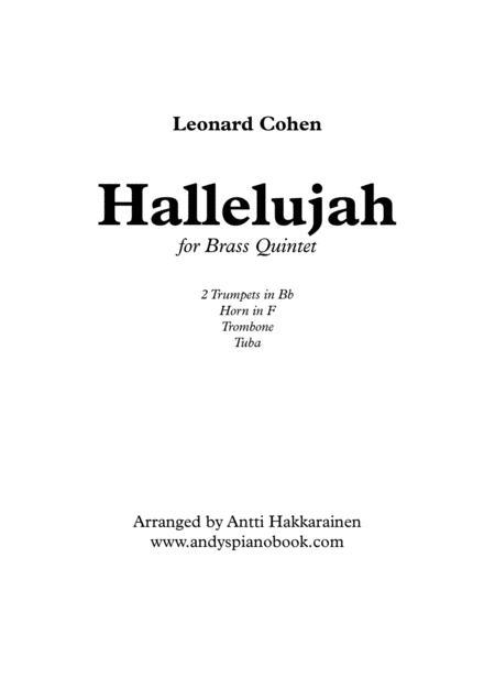 Hallelujah - Brass Quintet