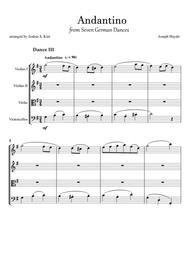 Andantino from Seven German Dances by J. Haydn for String Quartet