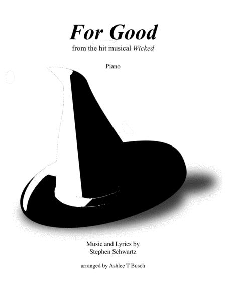 For Good from Wicked for Piano