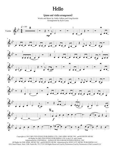 (Adele) Hello for Violin and Piano