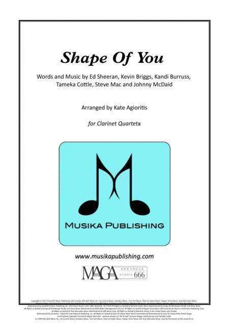 Shape Of You - Ed Sheeran - for Clarinet Quartet