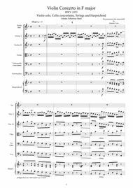 Bach - Violin Concerto in F major BWV1053 for Violin, Cello, Strings and Harpsichord