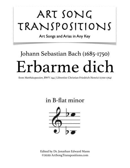 Erbarme dich, BWV 244 (B-flat minor)