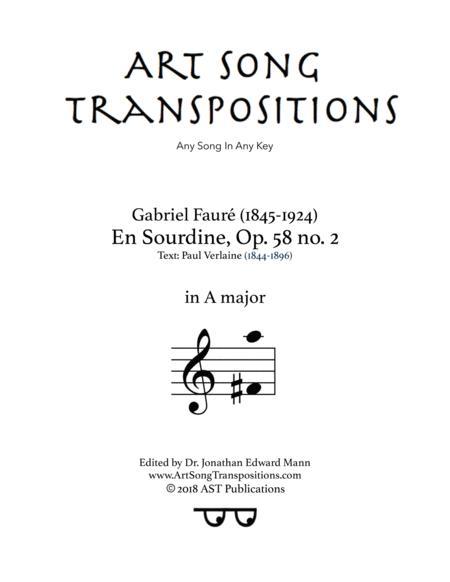 En Sourdine, Op. 58 no. 2 (A major)