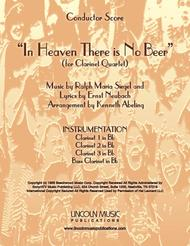 In Heaven There is No Beer (for Clarinet Quartet)
