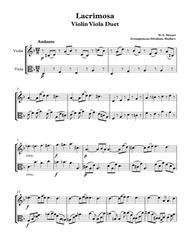 Lacrimosa from Mozart´s Requiem Violin-Viola Duet