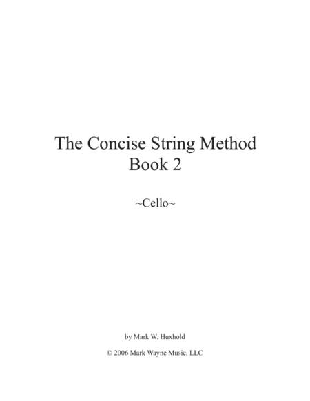 The Concise String Method- Cello Book 2
