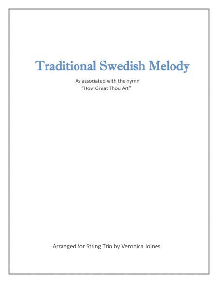 Swedish Folk Melody for String Trio (Violin 1, Violin 2, Cello)