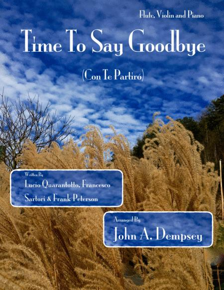 Time To Say Goodbye (Trio for Flute, Violin and Piano)