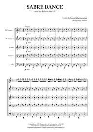Sabre Dance for Brass Quintet