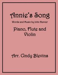 Annie's Song, arranged for Flute and Violin