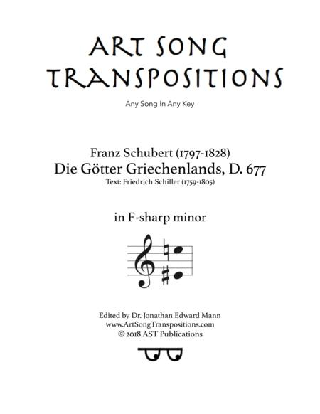 Die Götter Griechenlands, D. 677 (F-sharp minor)