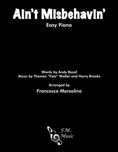 Ain't Misbehavin' (Easy Piano)