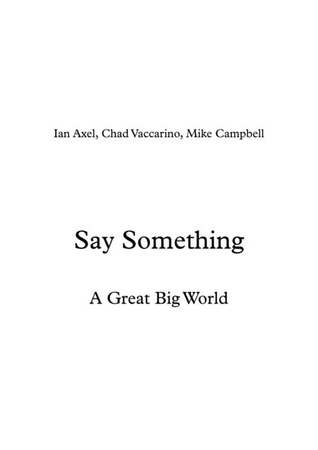 Say Something (piano)