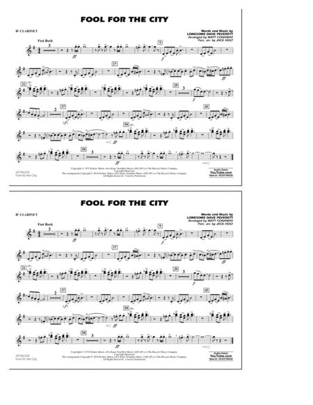 Fool For The City - Bb Clarinet